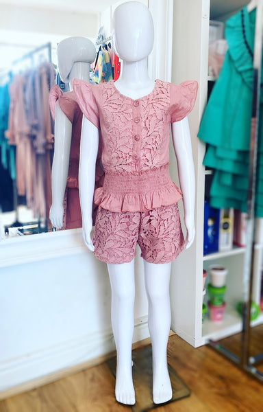 Dark Pink Talitha Shorts Set