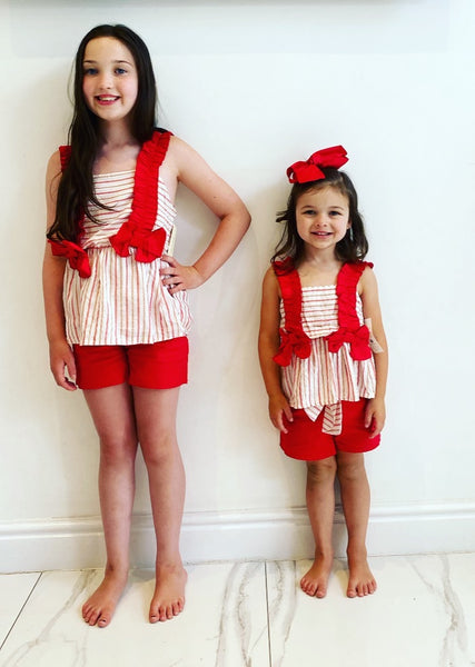 Haisley Double Bow Shorts Set