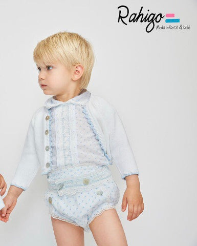 Rahigo White/Blue 3 Piece Jam Pants Set
