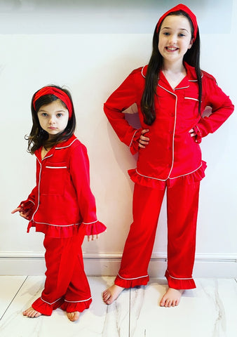 Red Lottie Pyjama's 3 Piece Set