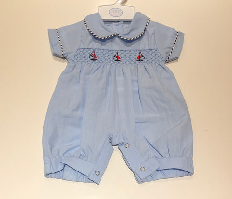 Blue Sailor Romper