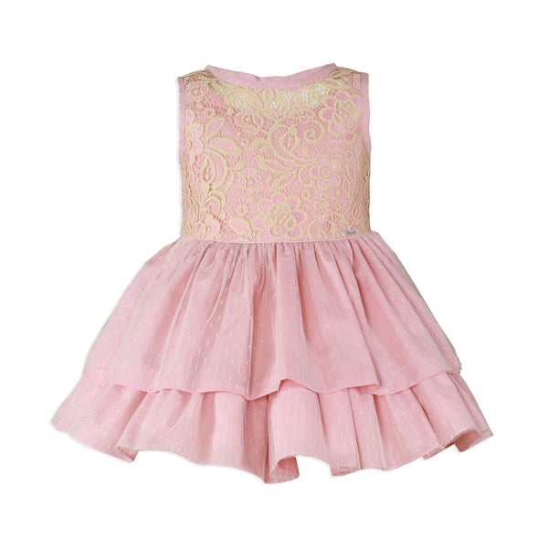 Miranda Girls Pink Lace Dress