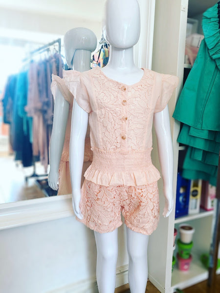 Peach Talitha Shorts Set