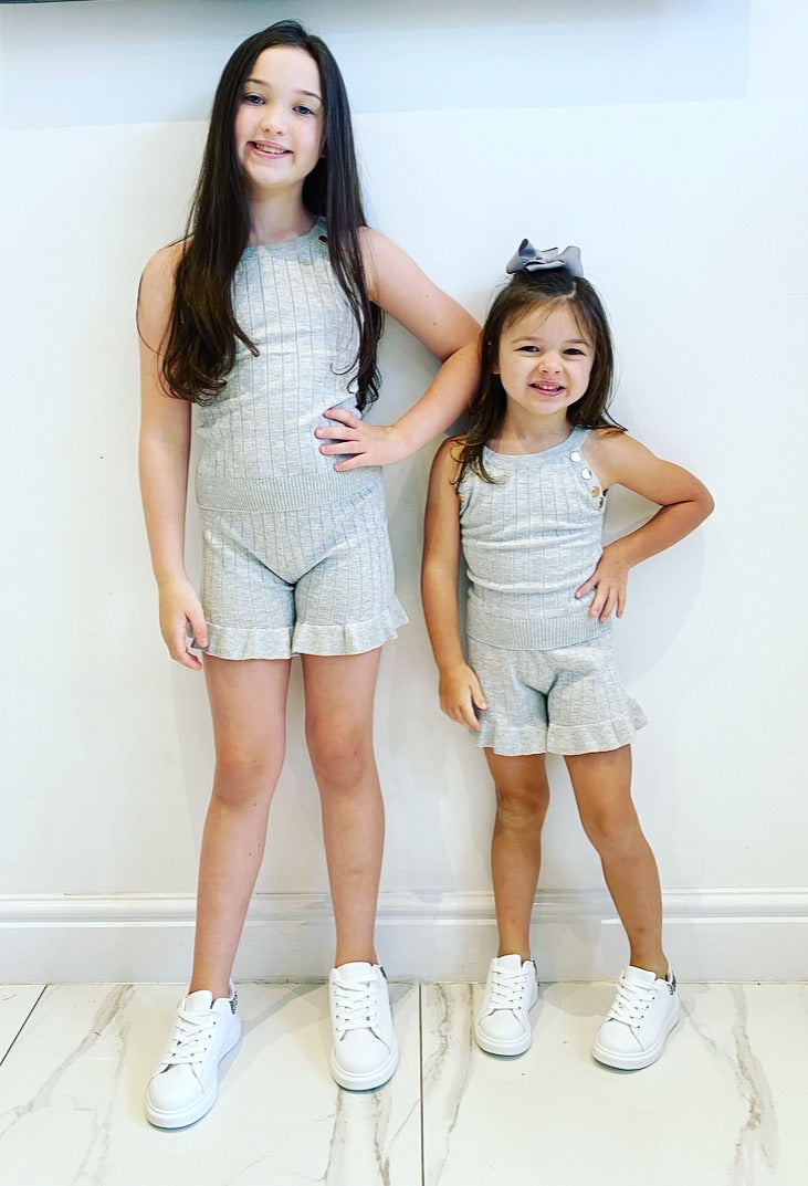 Grey Laranya Shorts Set