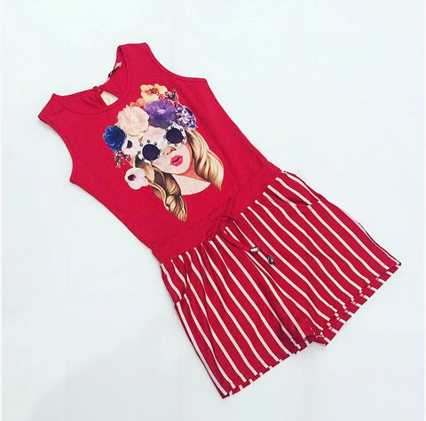 Red Juana Playsuit