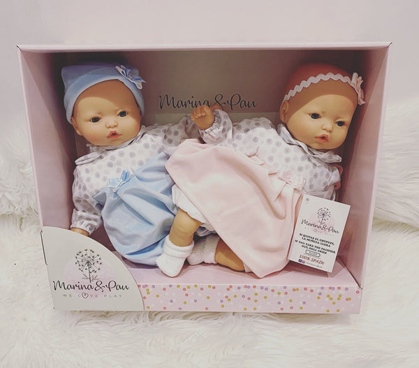 Spanish Twins Boy & Girl Crying Dolls
