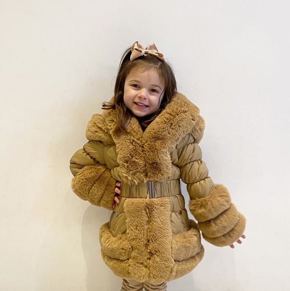 Camel Florencia Hooded Coat