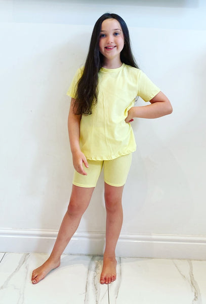 Yellow Rosia Shorts Set