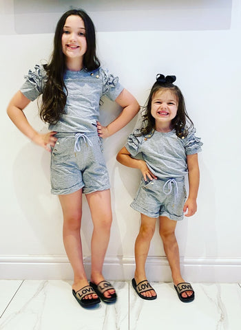 Grey Estela Shorts Set