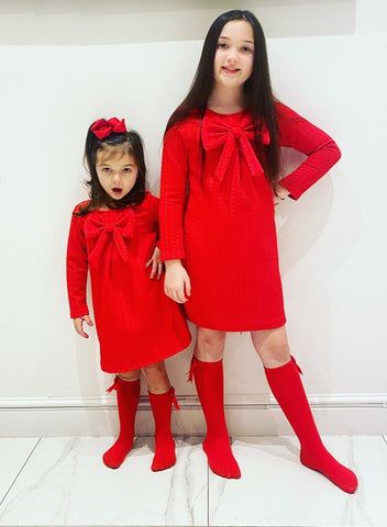Red Bella Bow Dress