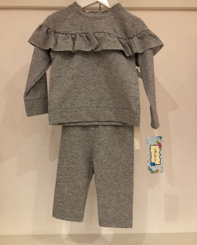 Grey Baby Frill Tracksuit