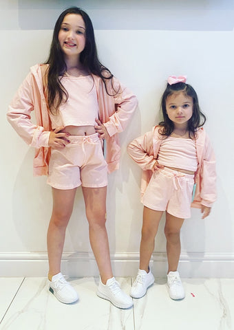 Pink Sicily 3 Piece Shorts Set