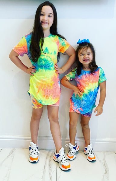 Rainbow Mabel Shorts Set