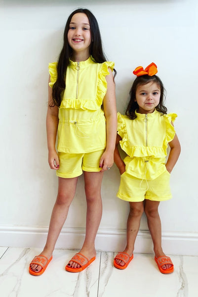 Yellow Massima Shorts Set
