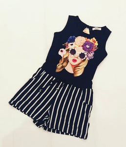 Navy Juana Playsuit