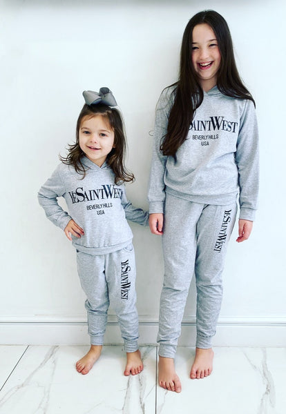 Grey Saint West Hooded Tracksuit