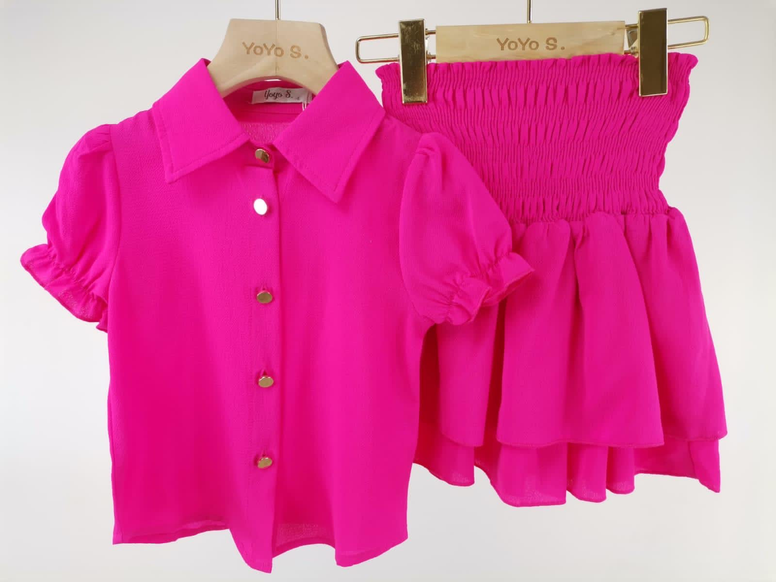 Cerise Pink Elsie Skirt Set