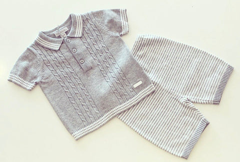 Elio Knitted Shorts Set