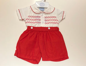 Red Felipe Shorts Set