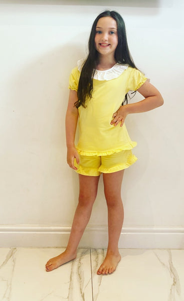 Yellow Shayla Shorts Set