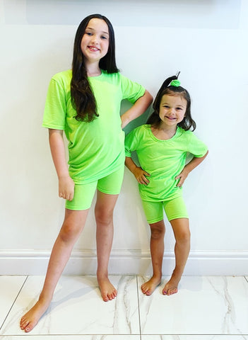Green Caia Shorts Set