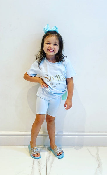 Blue Saint West Shorts Set