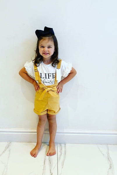 Yellow Belle Shorts Set