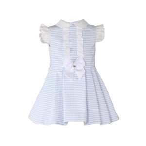Miranda Girls Blue Stripe Dress