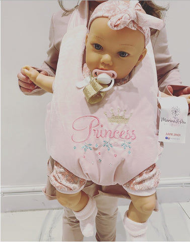Spanish Girl Princess Doll in Body Carrier