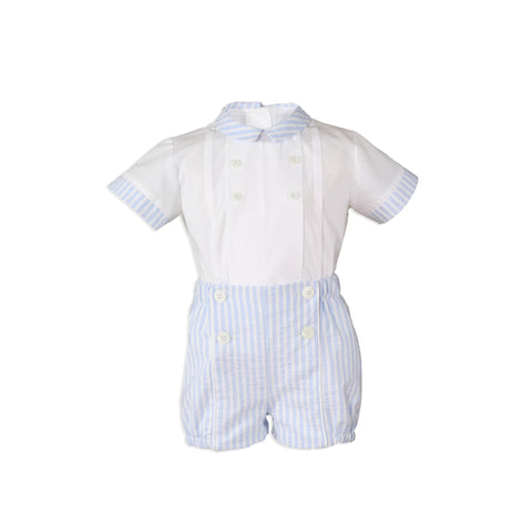 Miranda Baby Boys Blue Striped Shorts Set