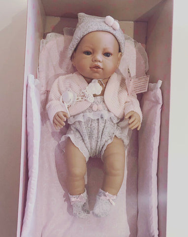 Spanish Girl '5103' Newborn Doll with Blanket