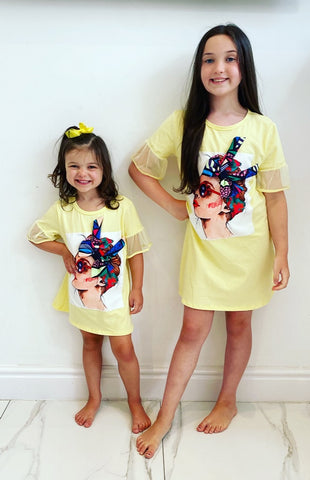 Yellow Stella TShirt Dress