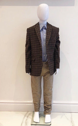 Brown Jose Blazer, Shirt & Pants Set