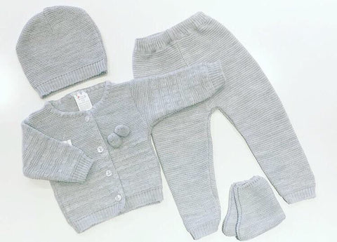 Grey Jaya 4 Piece Knitted Set