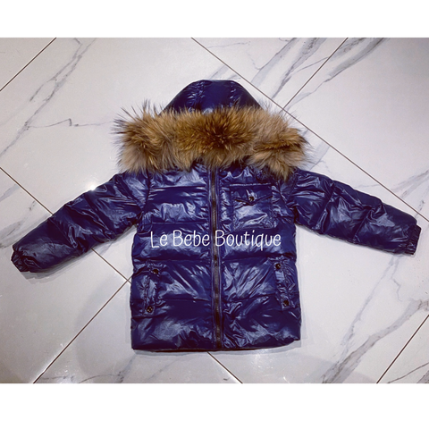 Navy Ailbe Padded Jacket
