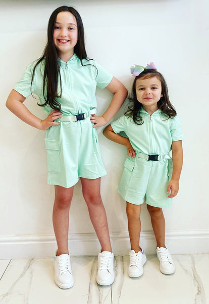Mint Gracie Belted Playsuit