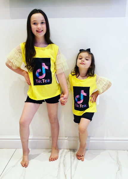 Yellow Tik Tok TShirt