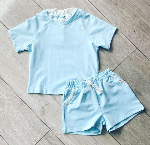 Blue Arabella Shorts Set