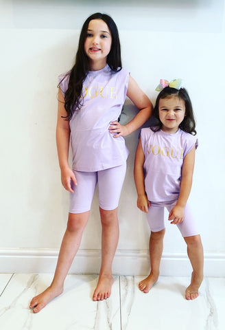 Lilac Vogue Shorts Set