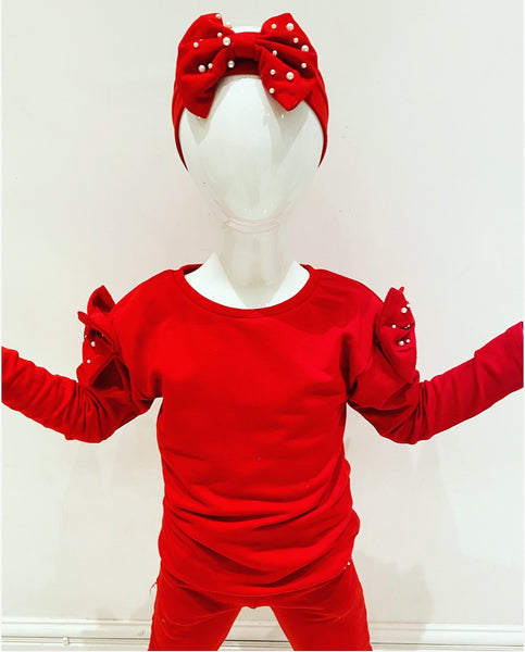 Red Lexie Tracksuit with Headband
