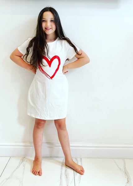 White Callie Heart Dress