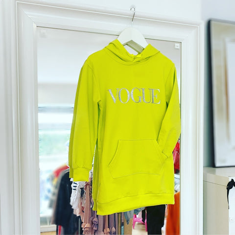 Yellow Vogue Hoodie Dress