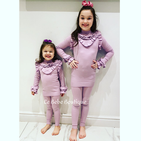 Lilac Ciara Knitted Pants Set