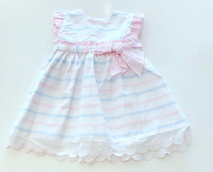 Pink Luna Striped Dress