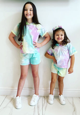 Lilac/Blue/Yellow Luana Shorts Set