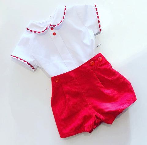 Red Rocco Shorts Set