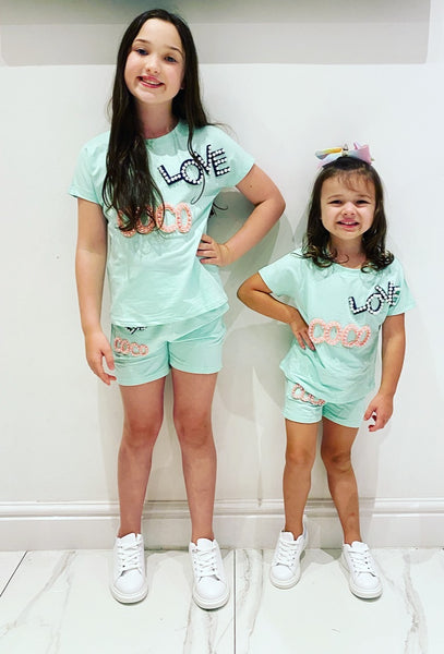 Mint Coco Shorts Set