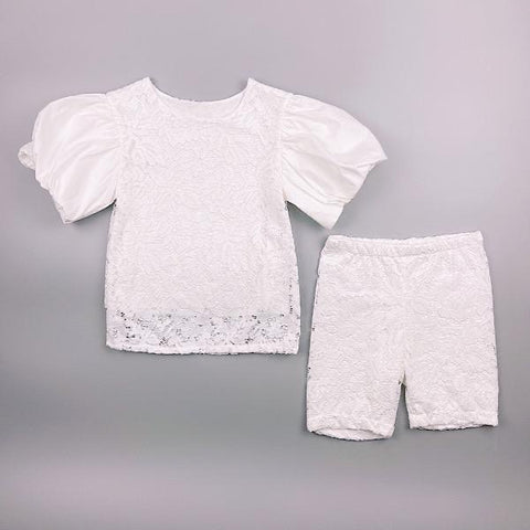 White Kiara Shorts Set