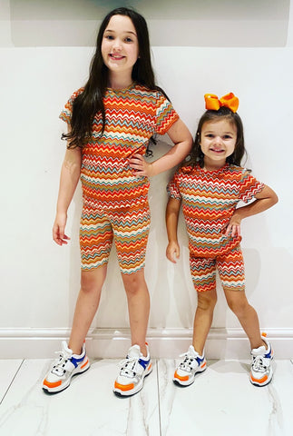 Orange Maysi Shorts Set