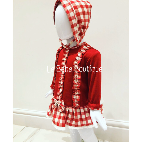 Adella Dress, Pants & Bonnet Set